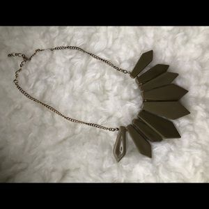 Gold and Khaki Necklace by H & M